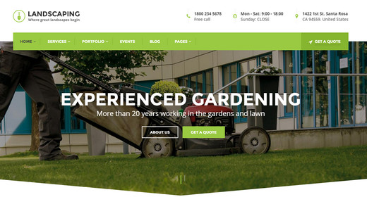 Amazing Landscaping WordPress Theme 2016