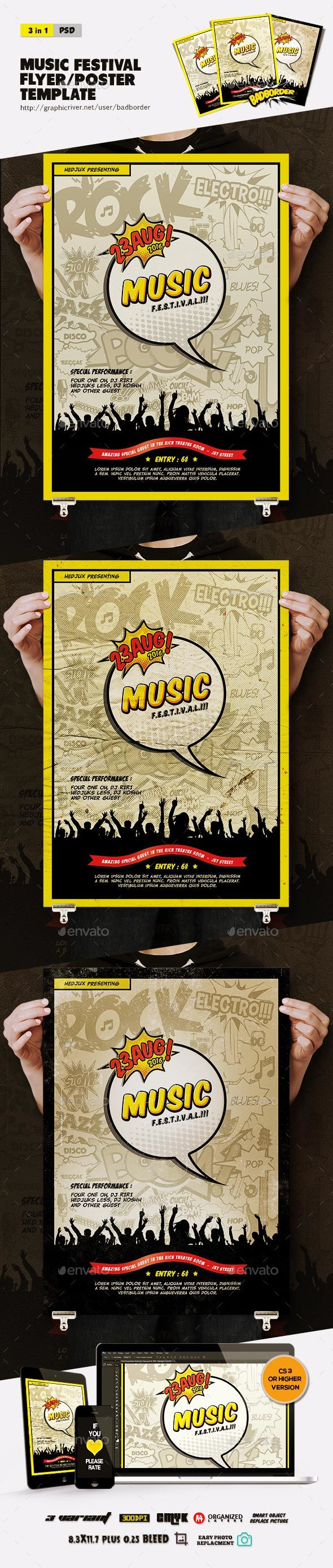 Music Festival Flyer/Poster - Concerts Events
