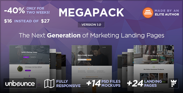 MEGAPACK – Multipurpose Unbounce Landing Pages Pack