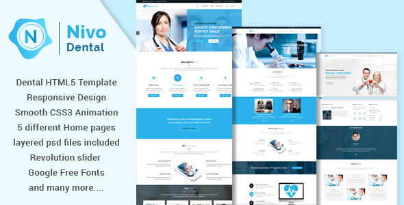 Nivodental - Responsive Multi-Purpose HTML5 Template