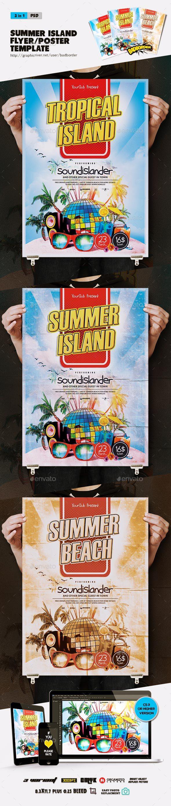 Summer Island Flyer/Poster