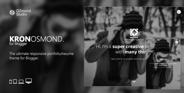 Kronosmond: The Ultimate Responsive Portofolio Theme for Blogger - Blogger Blogging