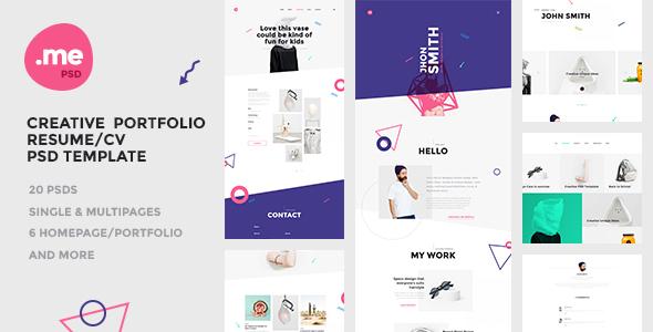 Me - Creative Portfolio & Resume / CV PSD Template