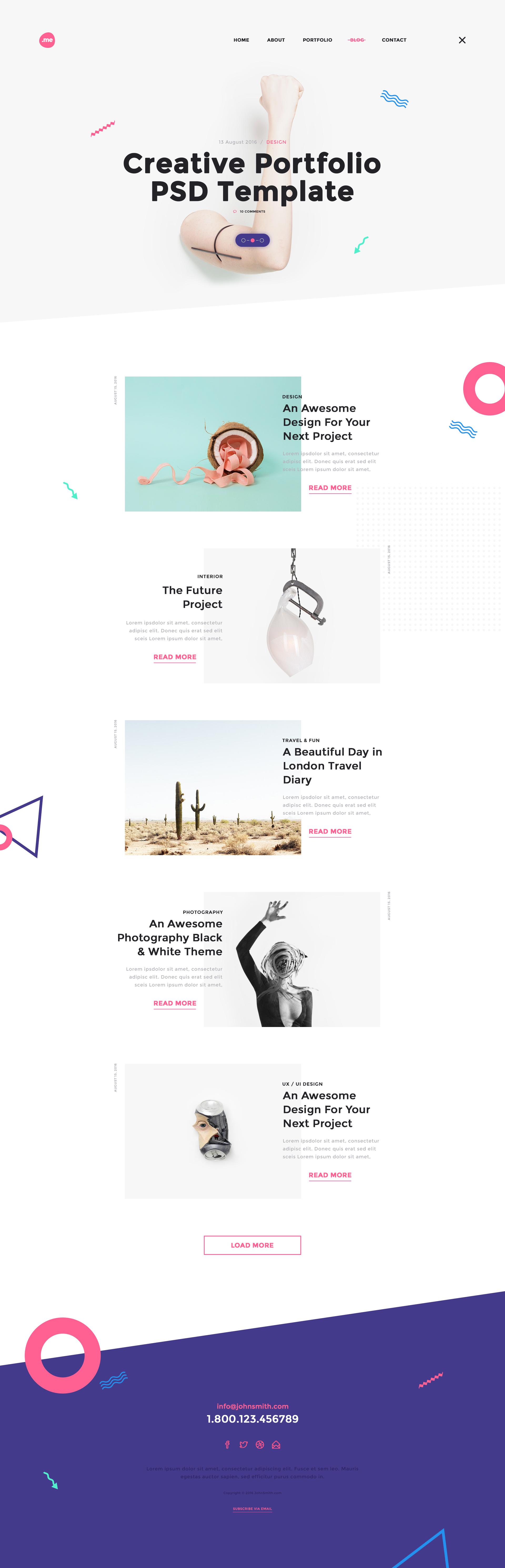 Me - Creative Portfolio & Resume / CV PSD Template by webduck ...