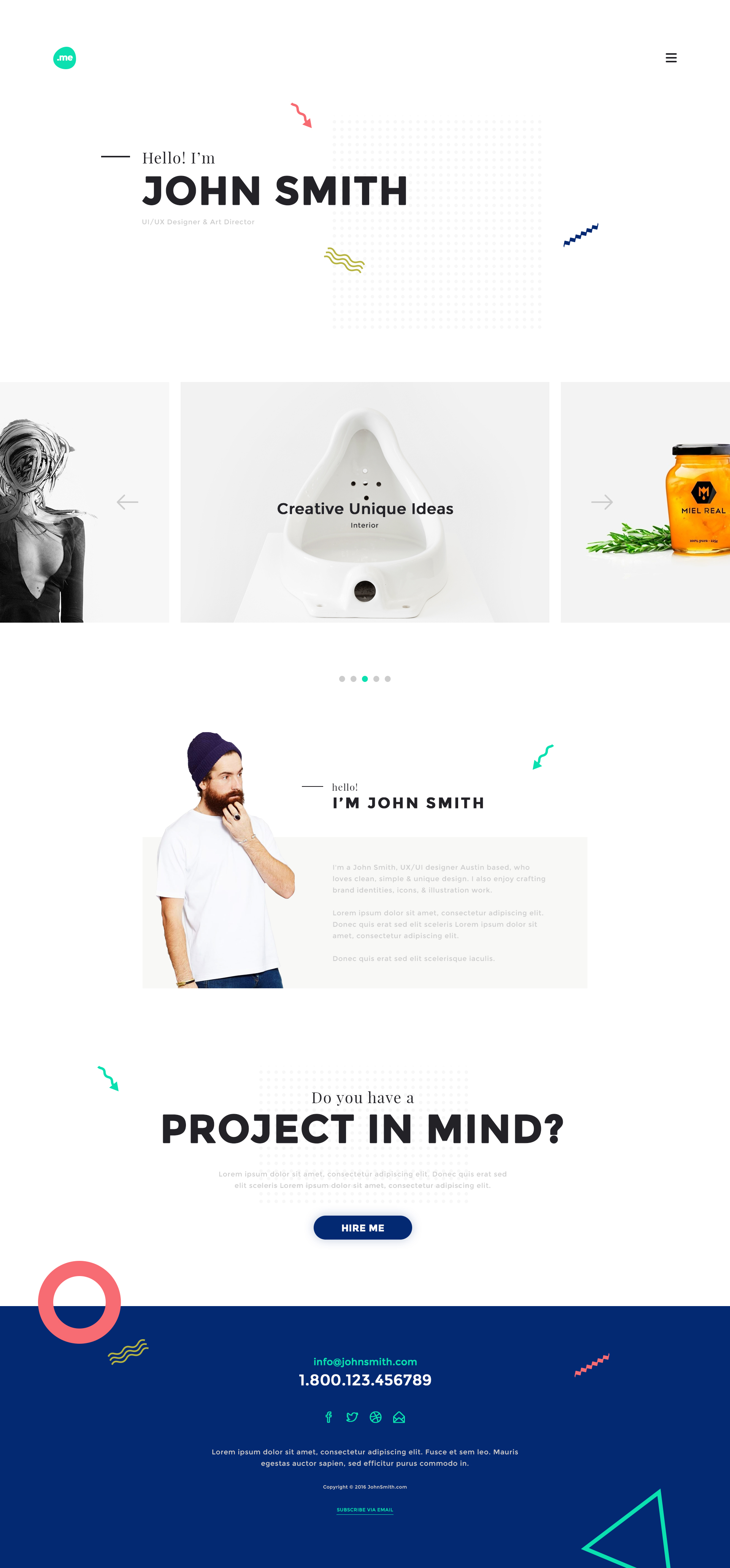 Me - Creative Portfolio & Resume / CV PSD Template by webduck ...