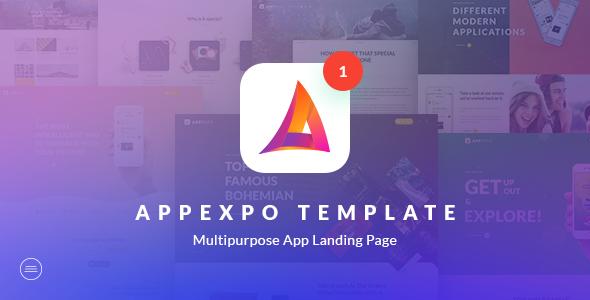 AppExpo – Multipurpose App LandingPage PSD Template