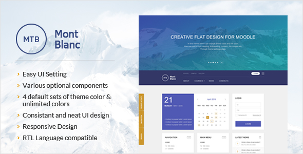 MontBlanc – Responsive Moodle Theme