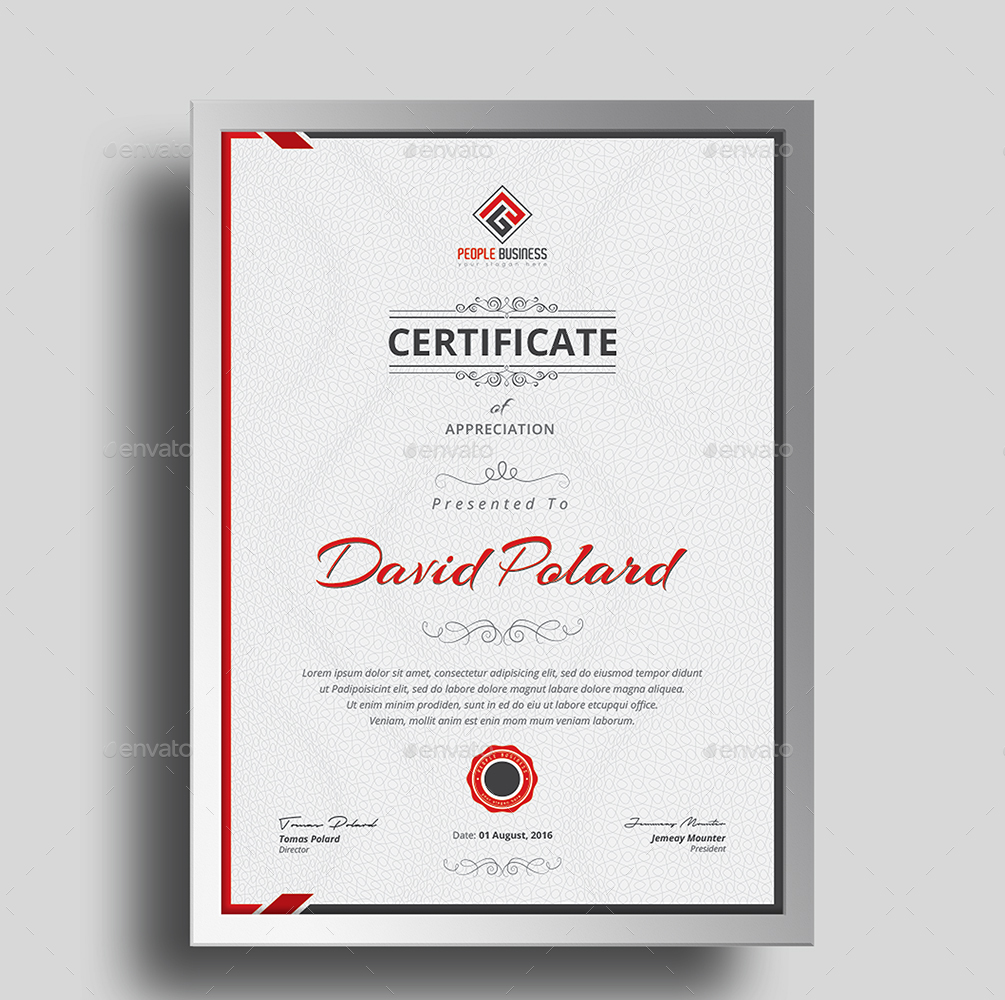 ... Screenshot/Template 4 ...  Acknowledgement Certificate Templates