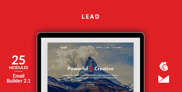 Lead Email Template + Online Emailbuilder 2.1