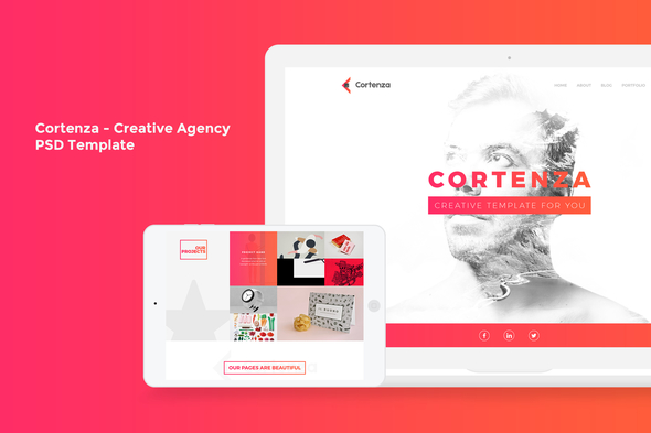 Cortenza - Creative Agency PSD Template - Creative PSD Templates