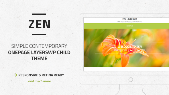 Zen - Multi-Purpose OnePage LayersWP Child Theme - Creative WordPress
