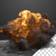 Explosion With Dust Shock Wave - VideoHive Item for Sale