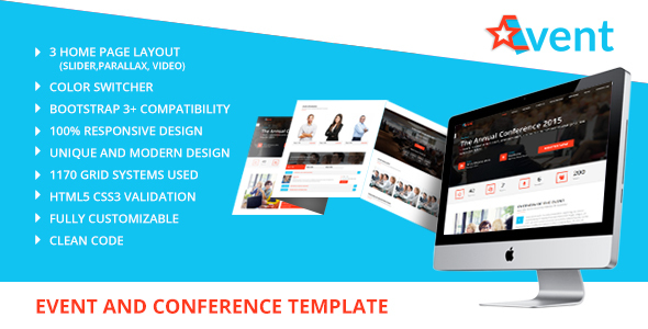 StarEvent – Conference & Event Management Template