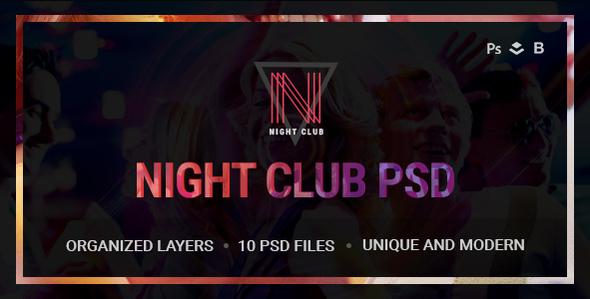 Night Club – Event, DJ, Party, Music Club PSD Template