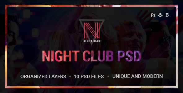 Night Club - Event, DJ, Party, Music PSD Template