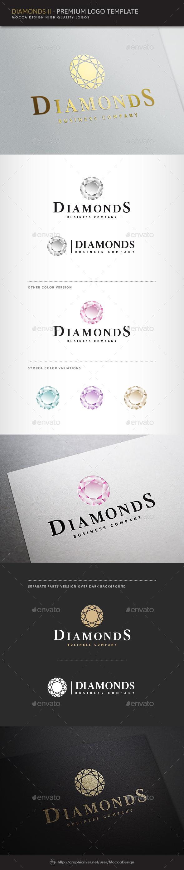 Diamonds II Logo - Objects Logo Templates