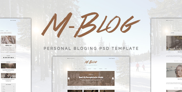 M-Blog – Personal Bloging PSD Template