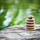 Stack of zen rocks in garden - PhotoDune Item for Sale