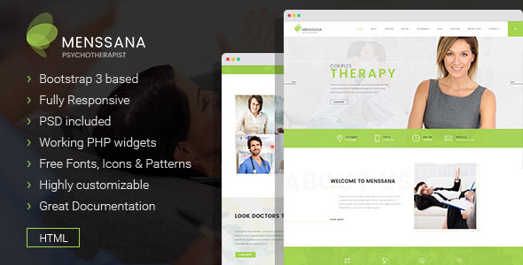 Menssana – Psychologist and Psychotherapist HTML Template