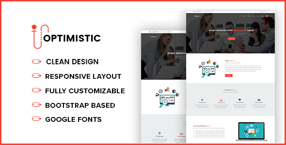 OPTIMISTIC – SEO and Marketing Responsive Template