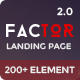 Factor - Multipurpose Landing Page Template With Page Builder