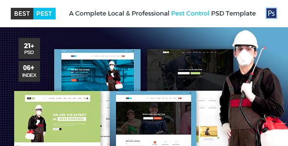 Best Pest | Professional Local Pest Control Multipurpose PSD Template - Business Corporate