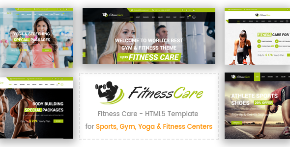 Fitness Care –  HTML5 Template for Sports, Gym, Yoga & Fitness Centers