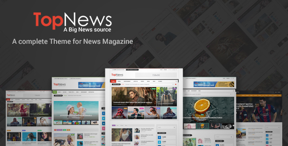 TopNews – News Magazine Newspaper and Blog WordPress Theme