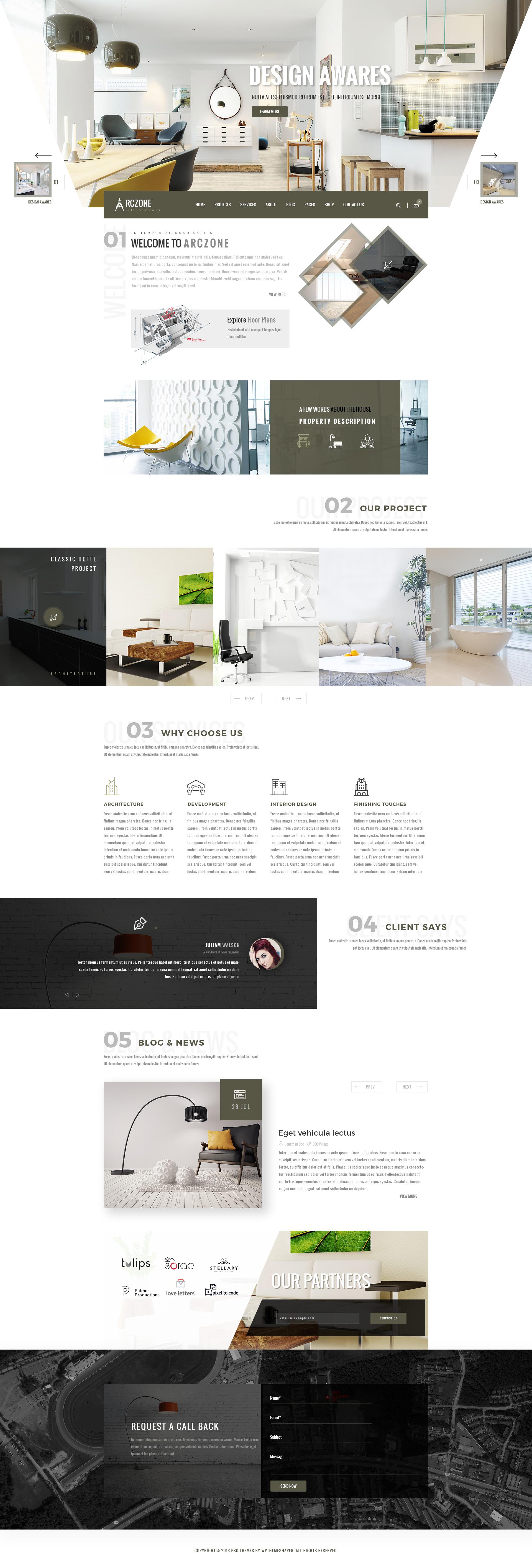 ARCZONE Interior Design Decor Architecture Business Template by