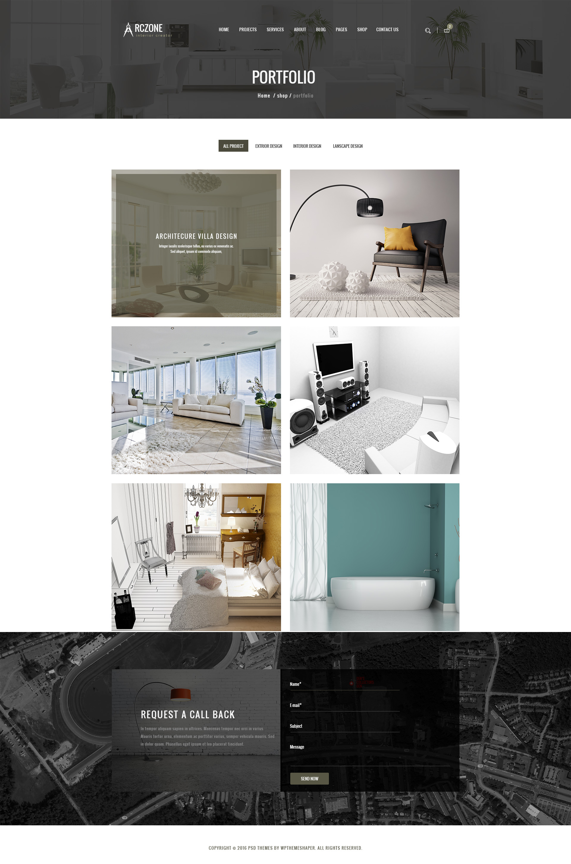 Arczone Interior Design Decor Architecture Business Template By