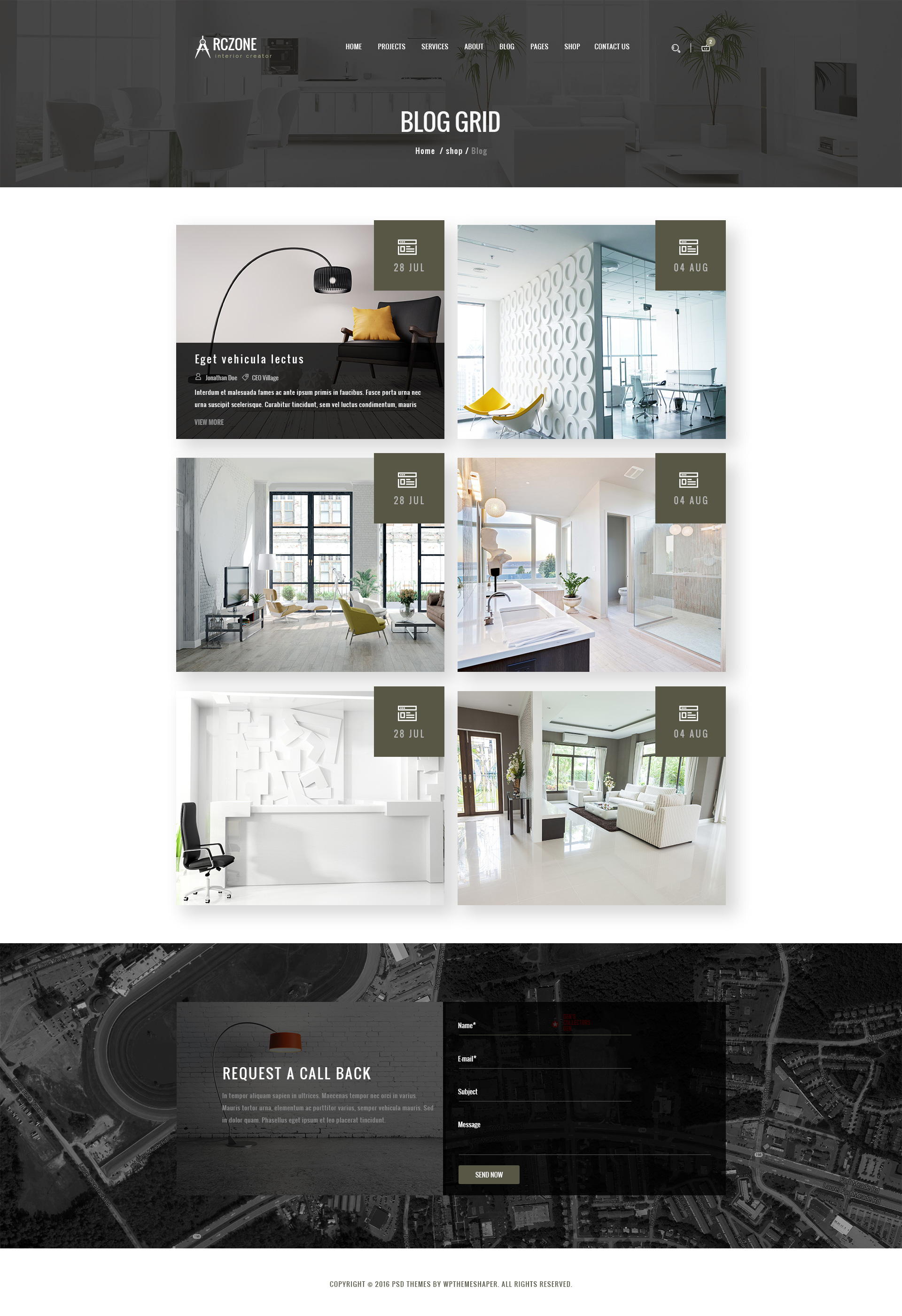 ARCZONE Interior Design Decor Architecture Business Template