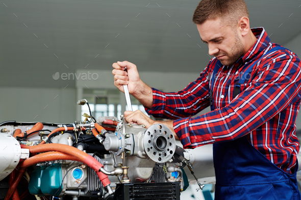 Air jet mechanic - Stock Photo - Images