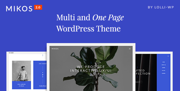 Mikos - Multi and One Page WordPress Theme - Creative WordPress