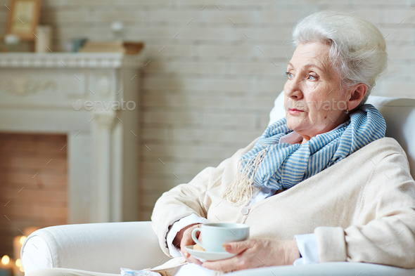 Senior woman at home - Stock Photo - Images