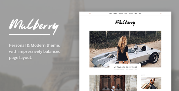 Mulberry – Modern Blog PSD Template