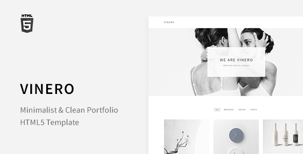 Vinero - Very Clean and Minimal Portfolio Template - Portfolio Creative