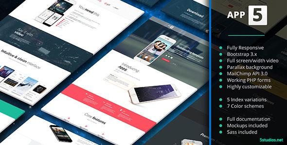 App5 – App Landing Page