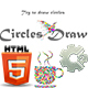 Circles Draw - HTML5. Construct 2 Game (.Capx)
