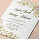 Flower Wedding Invitation-Graphicriver中文最全的素材分享平台