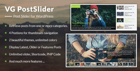 VG PostSlider - Post Slider for WordPress - CodeCanyon Item for Sale