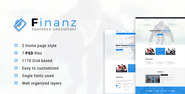 Finanz – Business PSD Template