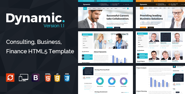 Dynamic - Consulting, Finance, Business HTML5 Template - Business Corporate