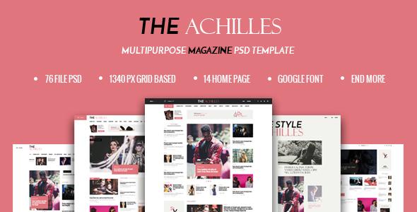 ACHILLES - Multipurpose Magazine PSD Template - PSD Templates
