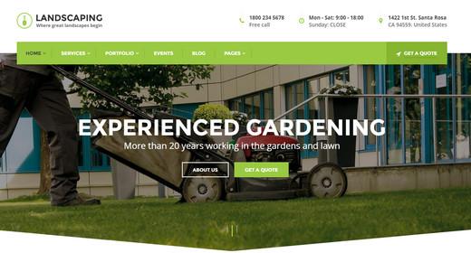 Amazing Landscaper Theme WordPress