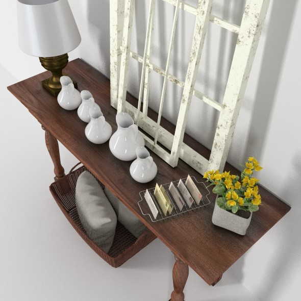 Provence console with windows - 3DOcean Item for Sale