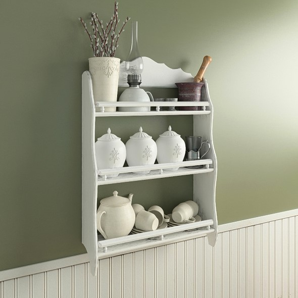 Provence shelf with decor - 3DOcean Item for Sale