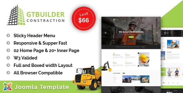 GTBuilder - Construction & Building Joomla Template