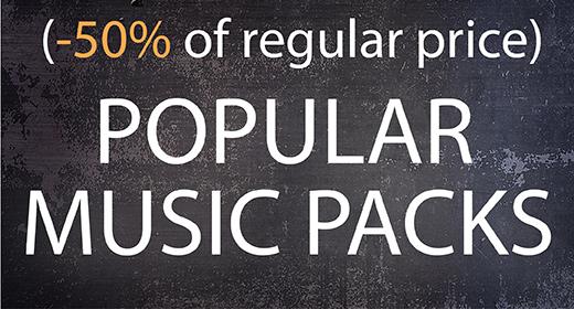 POPULAR MUSIC PACKS