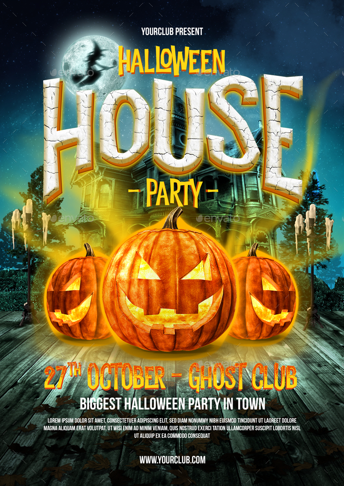 Halloween Party Flyer By Monogrph | Graphicriver