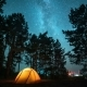 Moving Milky Way Above Tent At Night  - VideoHive Item for Sale
